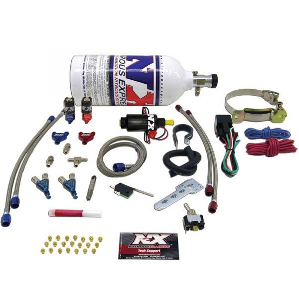 NOS Lachgasanlage Nitrous Express Piranha System 2 Zylinder Motorrad