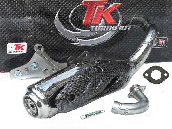Auspuff Turbo Kit TKR Sport in Edelstahl Peugeot Speedfight stehend 50
