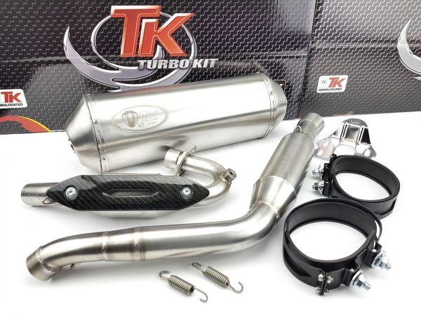 Edelstahl Turbokit Sport Auspuff UM DSR Derbi Terra Adventure 125 4T