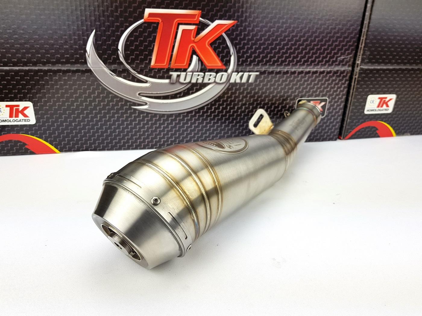 Edelstahl Turbo Kit GP Auspuff Hyosung GT N E3 NE R E3 RF