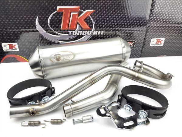 Edelstahl Turbo Kit X Road Sport Auspuff KEEWAY TX 125 S 4 Takt 4T