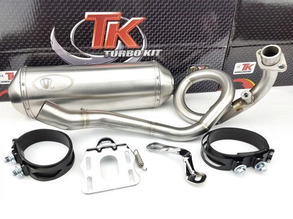 Edelstahl Turbo Kit Sport Auspuff Aprilia Derbi Piaggio X7 X8 MP3 125