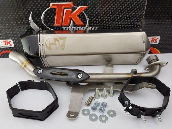 Auspuff Turbo Kit GMax H7 Carbon Sport Kymco Xciting 400 400i ab 14