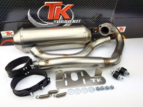 Edelstahl Turbo Kit Sport Auspuff Yamaha Warrior Raptor 700R ab 2015