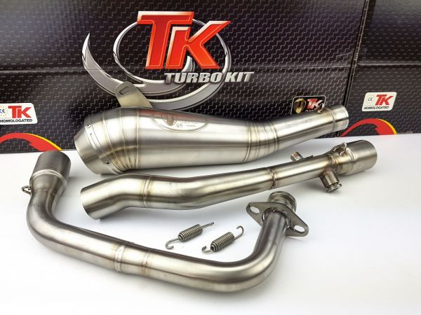 Turbo Kit ROAD GP Edelstahl Sport Auspuff Daelim Roadwin 125 Fi 4 Takt