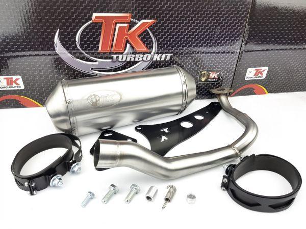 Edelstahl Turbo Kit Sport Auspuff Honda Lead 100 JF11 03 bis 07 AC 4T