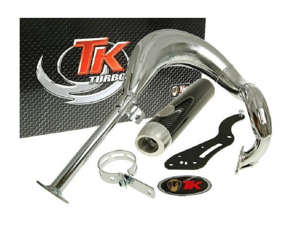 Turbo Kit Bajo RQ Chrom/Carbon Sport Auspuff Suzuki Street Magic TR 50