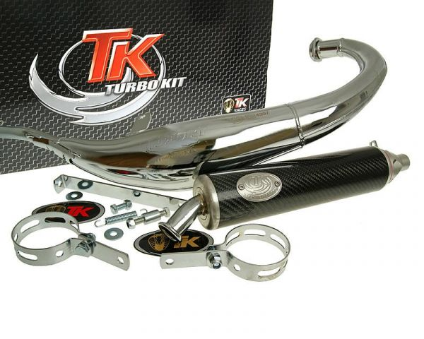 Turbo Kit Road R Sport Chrom Carbon Auspuff Derbi Senda R 4v 6v 50 EBE