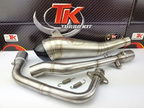 Turbo Kit ROAD GP H3 Carbon Sport Auspuff Daelim Roadwin 125 Fi 4 Takt