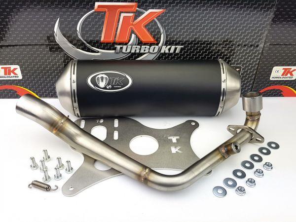 Auspuffanlage Turbokit GMax Edelstahl Auspuff Daelim S3 125 125i FI 4T