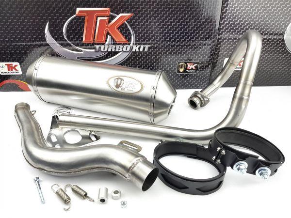 Edelstahl Turbo Kit ROAD Sport Auspuff Rieju MRX 4T BETA RE 125 4 Takt
