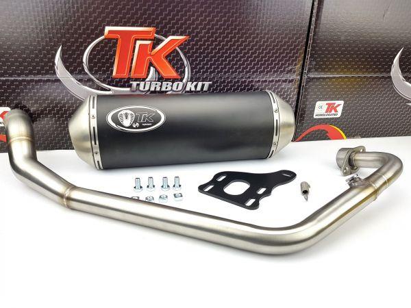 Turbo Kit X Road Edelstahl Sport Auspuff KEEWAY RKV 125 4 Takt 4T