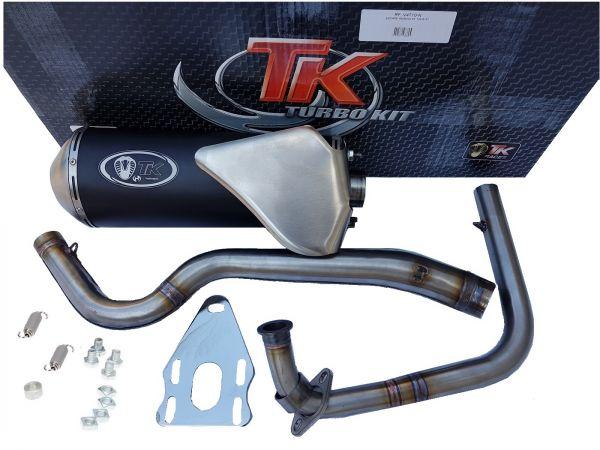 Turbo Kit X-Road Edelstahl Sport Auspuff Yamaha XT 125 R 4 Takt 4T