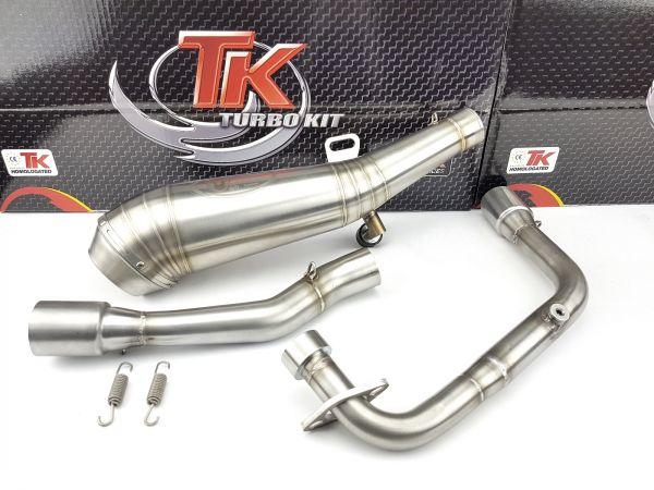 Turbokit GP Edelstahl Sport Auspuff KEEWAY RKS Ride Zento 125 4 Takt