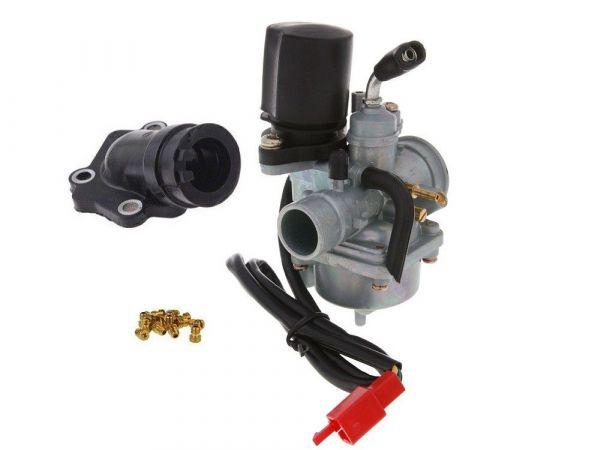 Vergaser Sport PHVA 17,5mm + Ansaugstutzen + HD Set M6 Yamaha 50 2T