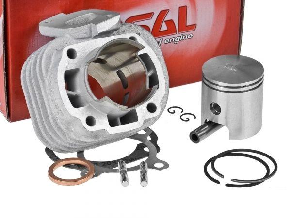 Zylinder Airsal ALU Sport 50ccm Longjia Rivero Minarelli 10mm AC 2T
