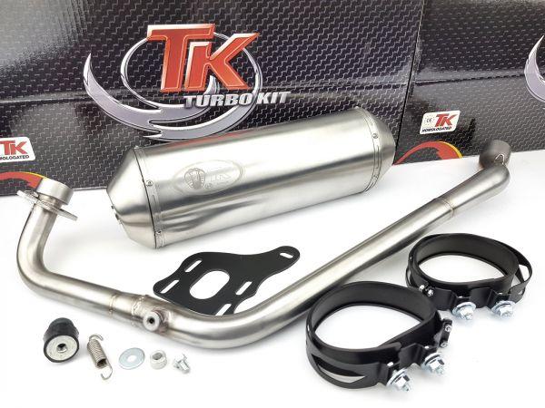 Edelstahl Turbo Kit XRoad Sport Auspuff RKS Ride Zento 125 LC 4 Takt