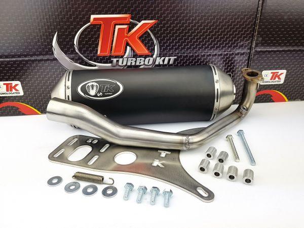 Turbo Kit Gmax Edelstahl Sport Auspuff Peugeot Django 125 AC 4T 14-20