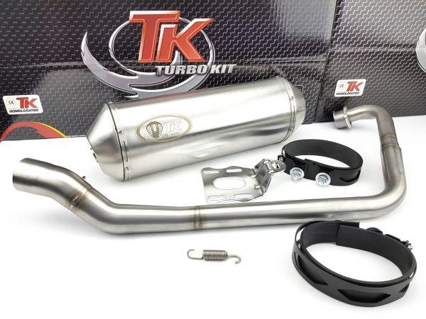 Edelstahl Turbo Kit Road Sport Auspuff Honda CBF 125 CB 125 F 4T