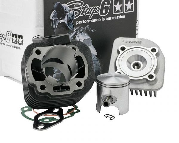 Zylinder Stage6 Streetrace 70ccm Adly Aprilia Benelli Yamaha 50 10mm