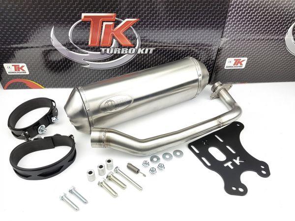 Turbokit GMax Edelstahl Sport Auspuff Yamaha Majesty YP 125 R 125 150