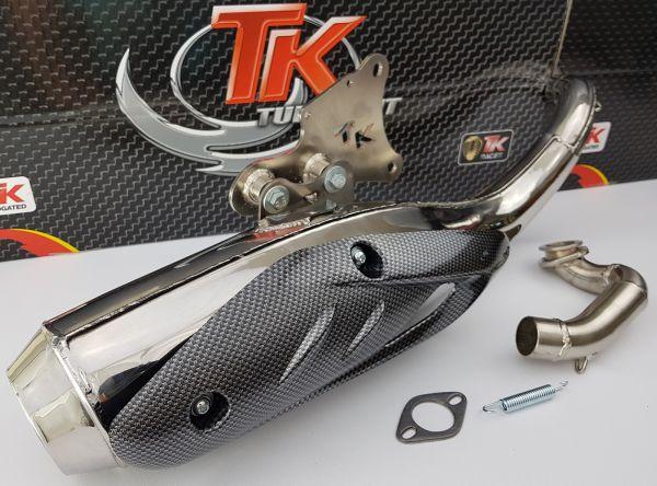 Turbo Kit TKR Edelstahl Auspuff Kymco Fever Daelim Honda Stehend 50 2T
