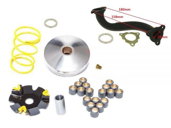 Tuning Kit Sport Krümmer + Variomatik CPI Explorer Generic Keeway 50