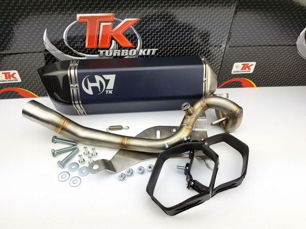 Turbokit GMax Edelstahl H7 Sport Auspuff Yamaha X-Max X-CITY 125 125i