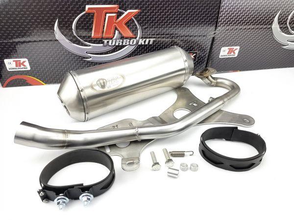 Turbo Kit Edelstahl Sport Auspuff Kymco Grand G Dink 300 300i 12-19 4T