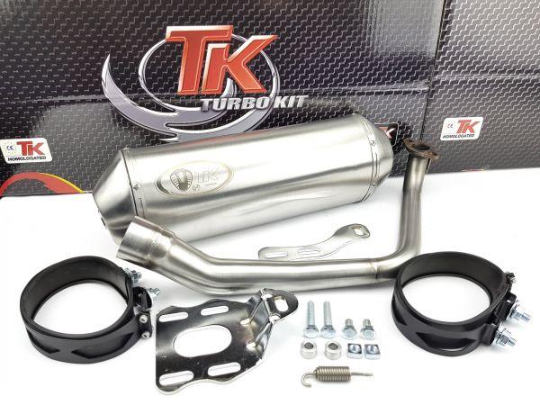Edelstahl Turbo Kit Sport Auspuff SYM Sanyang Joyride MTR Ibiza 125 4T