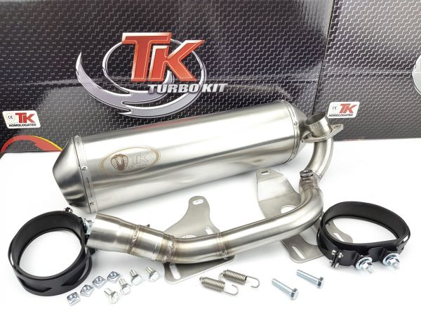 Edelstahl Turbo Kit Sport Auspuff Piaggio Beverly 350 350i 2012 - 2020