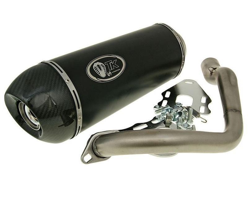 auspuff turbo kit tk gmax carbon edelstahl sport daelim s3 125 4 takt scooter roller teile. Black Bedroom Furniture Sets. Home Design Ideas
