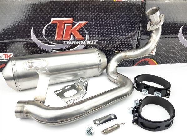 Edelstahl Turbo Kit Quad Sport Auspuff PGO Bugracer 500 Buggy 4 Takt